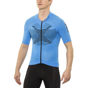 X-Bionic Twyce Biking Shirt SS Full Zip Men French Blue/Black